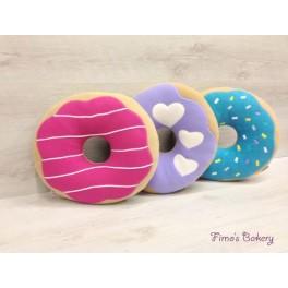 Cuscino Donut colorato d.45cm glasse di vari colori