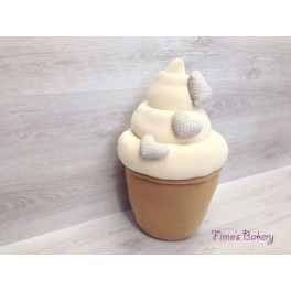 Cuscino Cupcake 30x50cm vari colori e decorazioni