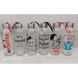 Bottiglietta eco 400ml vetro/vinile adesivo