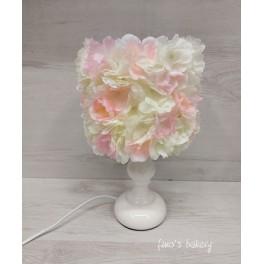 Abat-jour fiori chiari h30cm